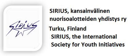 SIRIUS, kansainvälinen nuorisoaloitteiden yhdistys ry (Finland)